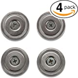 DIY Magnets - Strong Round Base Neodymium - Pot Magnets - Bulk Pack of 4 - 70+ LB Strength - Countersunk Hole with Mounting Screws