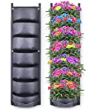 Richoose Vertical Hanging Garden Planter with 7 Pockets, New Upgrade Waterproof Wall Mount Planter Pouch Solution