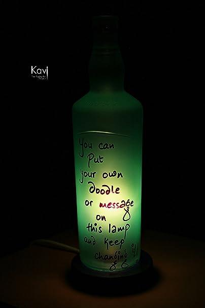 Kavi Diya Glass Lamp    Green  Night Lights
