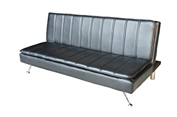 Amazonde Italienischen Stil Schwarz Sofa Bett Mit Chrom Beine