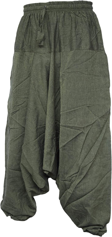Hombre Aladino Pantalones Estilo Ninja Genio Pantalones De Algodon Ligero Para Hombres Verde Verde L Haren Little Kathmandu Ropa Centrocen Cl