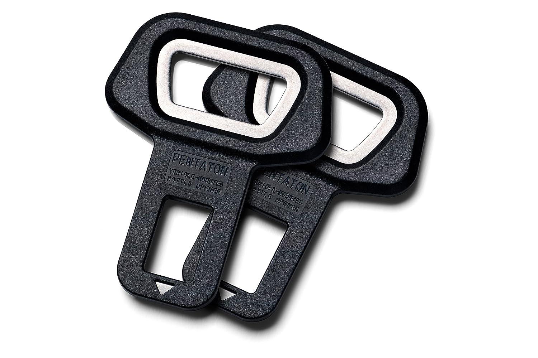 Pentaton Anti Gurtwarner 2er Pack Dummy aus Aluminium in Schwarz Sitzalarm Gurtalarm Stopper