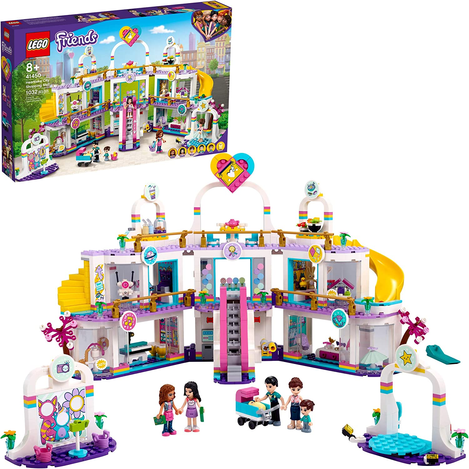 LEGO Friends Heartlake City Shopping Mall 41450 Building Kit; Includes Friends Mini-Dolls to Spark Imaginative Play; Portable Elements Make This a Great Friendship Toy, New 2021 (1,032 Pieces)
