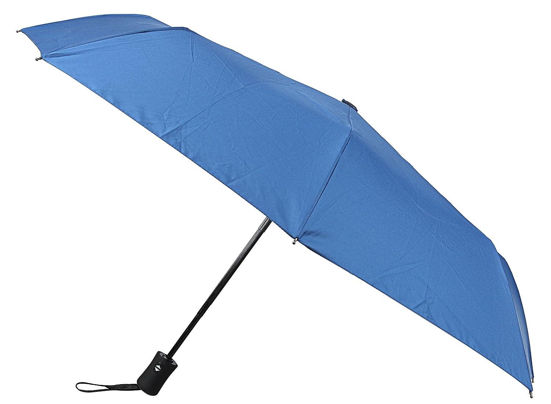 Paraguas para Viajar con Cobertor a Prueba de Agua. Se Abre y Cierra Automáticamente con Tela que Repele la Lluvia y Costillas de Fibra de Vidrio (Color ...