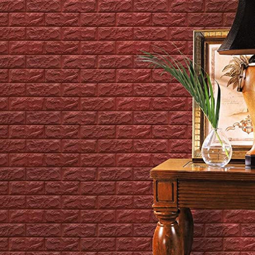 3d Wasserdicht Brick Muster Tapete 3d Ziegelstein Tapete