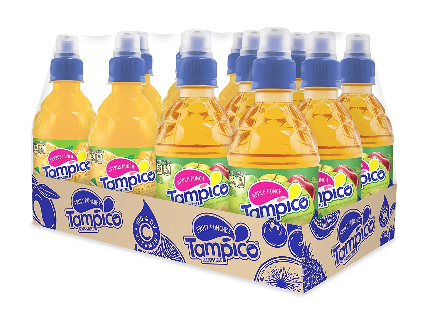Tampico Variety Pack, 6 Citrus Punch, 6 Apple Punch, Naturally Flavored, 1 CT