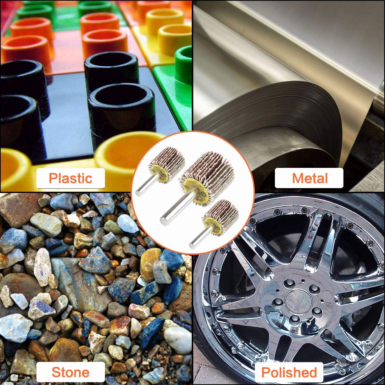 Eau1x1x1//4 80 Grit Flap Wheel Sander with 1//4 Inch Shank Aluminum Oxide Sanding Flap Wheel for Rust Removal Deburring Polishing Satin-Finishing 20 Pcs Flap Sanding Wheels Abrasive Grinding Tool
