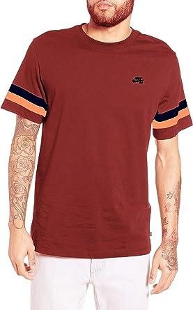 Nike Sportswear Club - Camiseta para Hombre con Ajuste clásico, Large, Marron/Orange Blue: Amazon.es: Deportes y aire libre