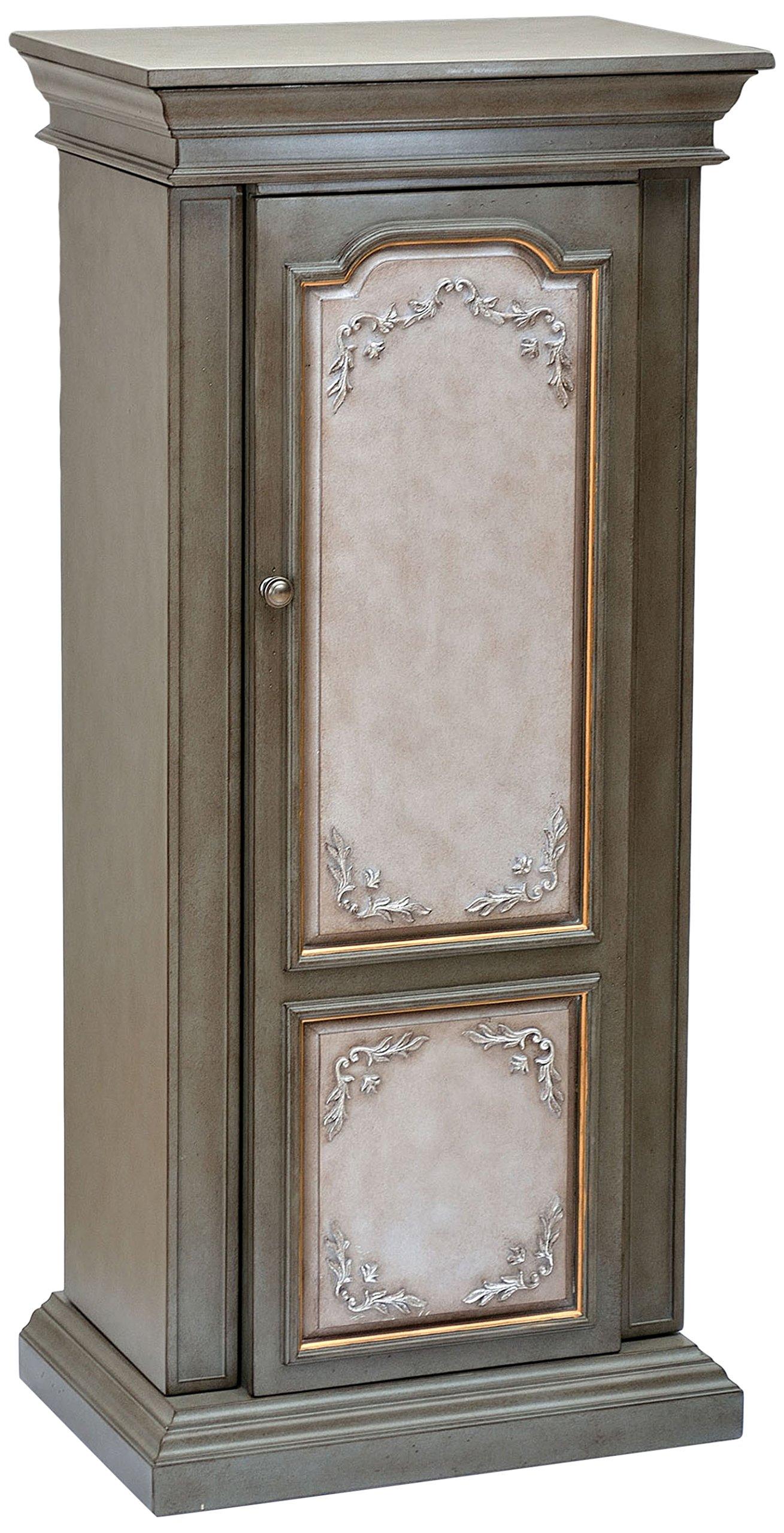 ACME Furniture 97206 Riker Jewelry Armoire, Antique Gray/Antique Beige