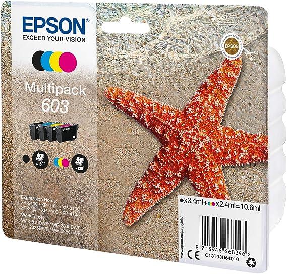 Original Epson 603 Black Ink Cartridge T03U14010 for XP-2100 XP-2150 XP-3100 Box