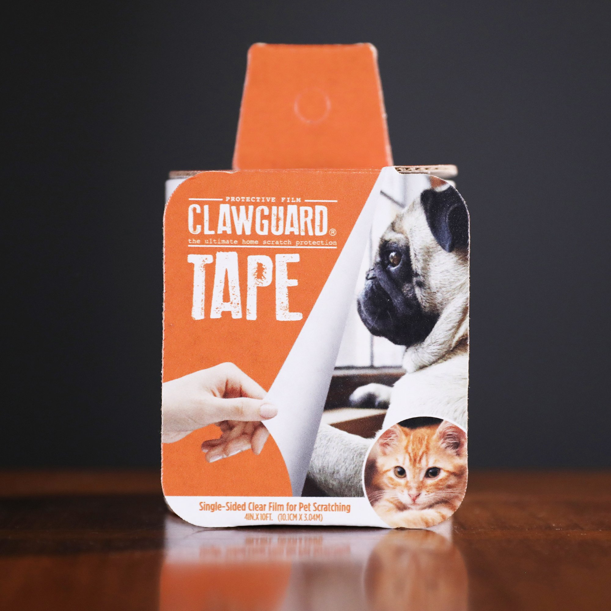 CLAWGUARD Protection TAPE - Durable Shield Protection against Cat and Dog Scratching Furniture, Couch, Window sill, Car door, Glass and more!