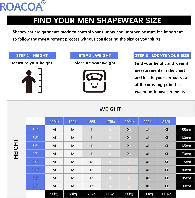 roc bodywear bărbați corp de slăbire shirt de compresie pierderea în greutate la punctul de deces