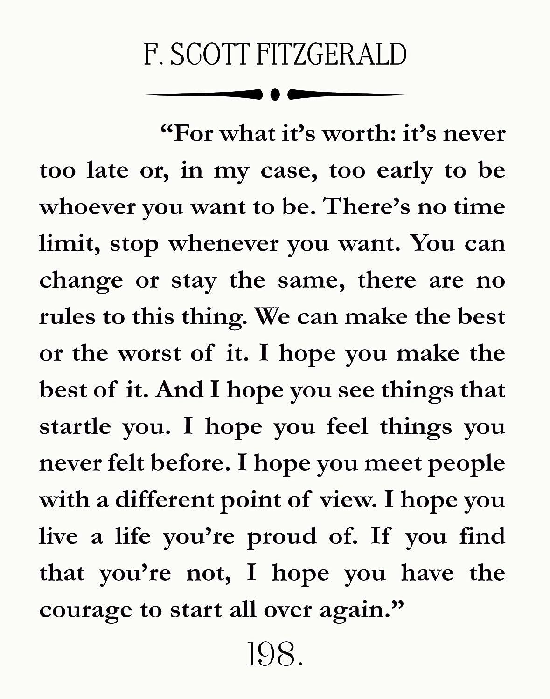 Amazon.com: F Scott Fitzgerald Quote Great Gatsby Poster ...