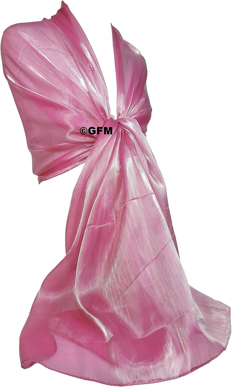 Brautjungfern Bridal Wear oder Braut oder Ball Proms Partys irisierend Hochzeit Stola GFM Marken Schal schimmernd ideal f/ür Abend