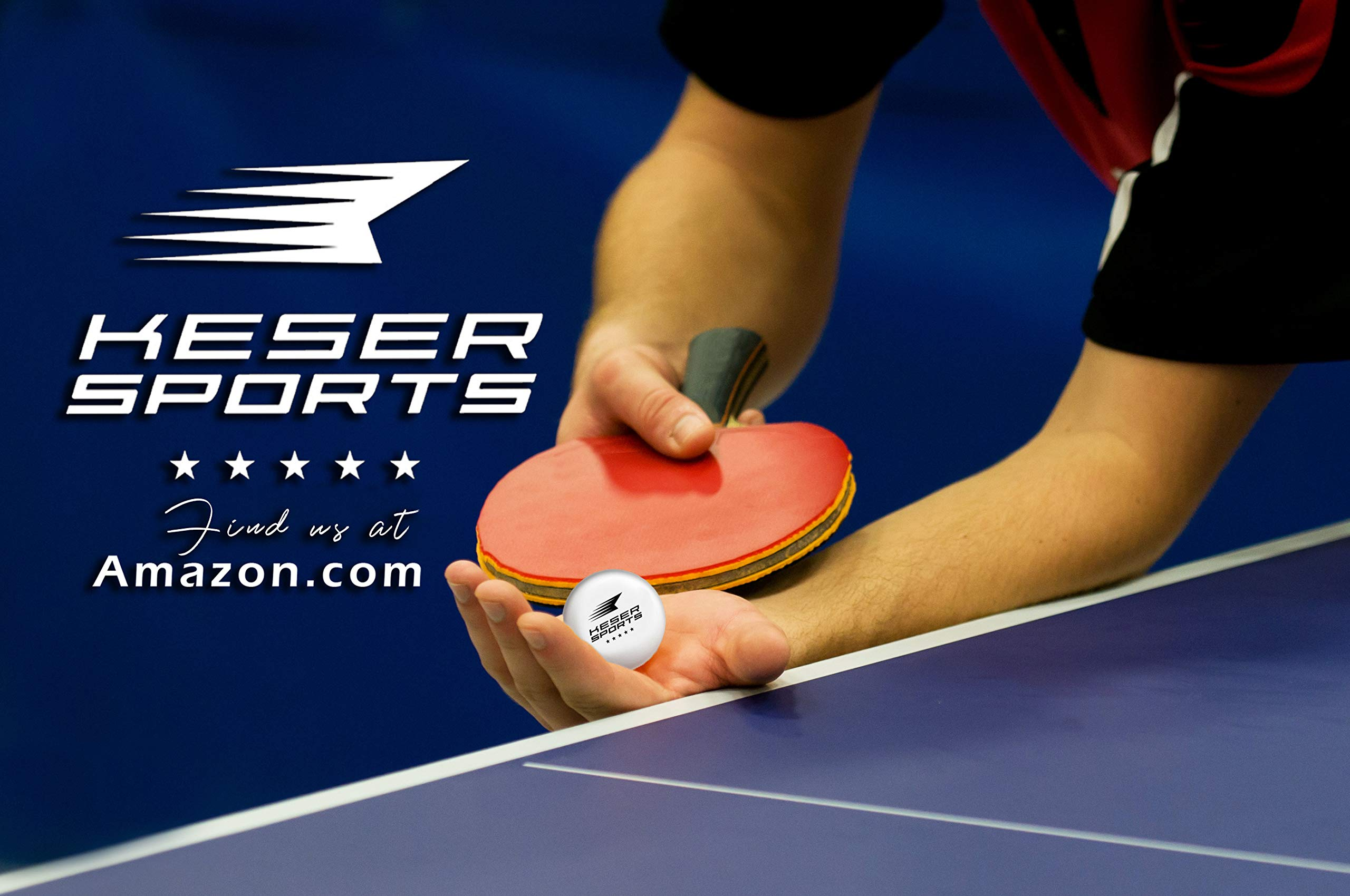 Keser Sports 5-Star Ping Pong Paddle Set, 4-Player Racket Set Bundle, 8 Professional ABS Balls, Portable Storage Bag, Full Table Tennis Set, Advanced Spin, Speed & Control, Play Outdoors/Indoors by Keser Sports (Image #9)