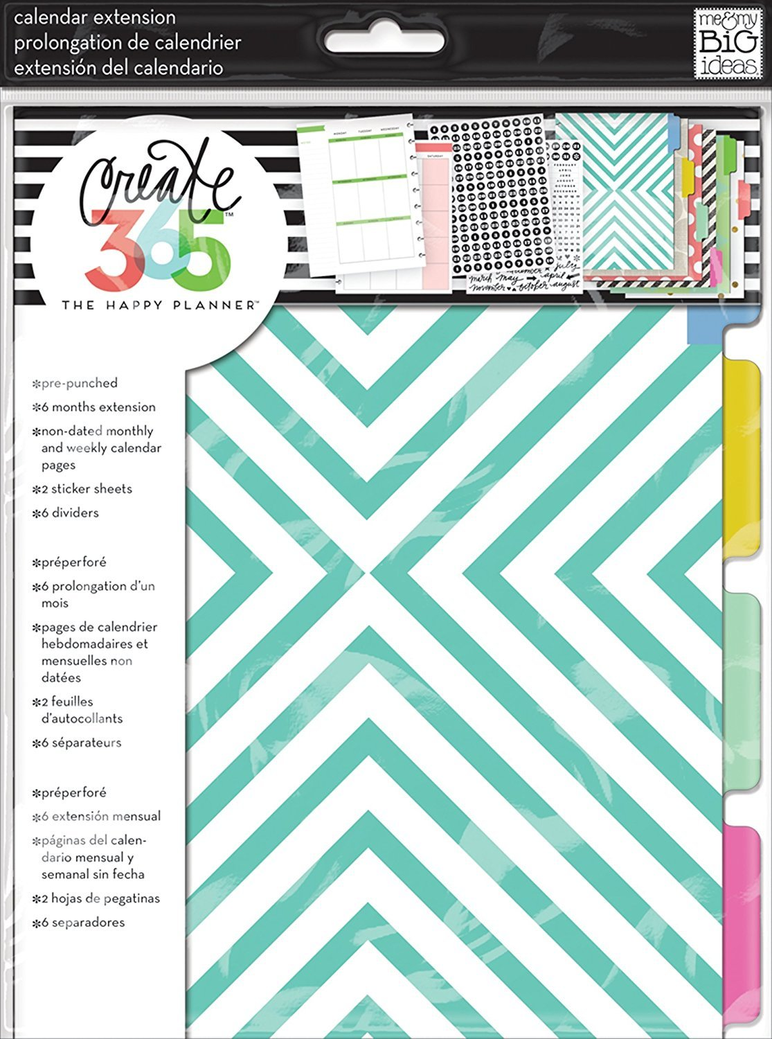 me & my BIG ideas Create 365 The Happy Planner Six Month Extension Pack