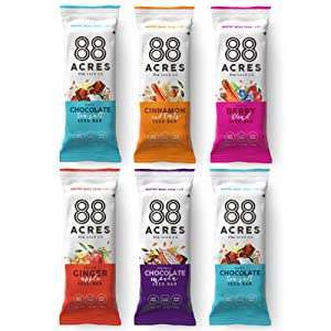 88 Acres Granola Bars | Gluten Free, Nut-Free Oat and Seed Snack Bar | Vegan & Non GMO | 6 Pack (Variety Pack)