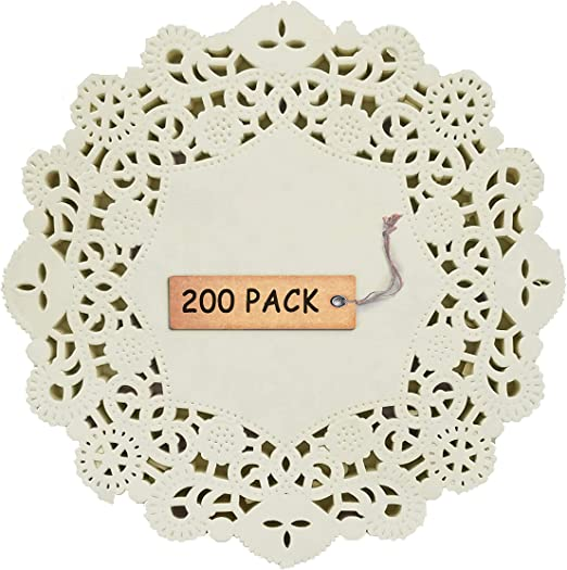 Birthday or Baking Embossed Pattern 6.5 8.5 SCHOLMART Floral White Paper Doilies for a Tea Party 10.5 200 Pieces 4.5 Inches