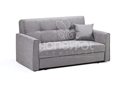 Prime Honeypot Sofa Viva Storage Sofa Bed 2 Seater Grey Fabric Ocoug Best Dining Table And Chair Ideas Images Ocougorg