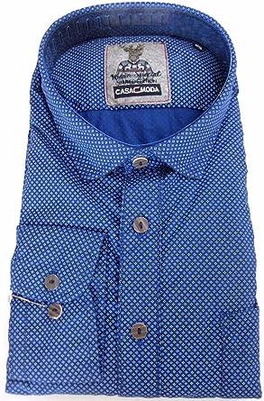 Casa Moda - Camisa Casual - Estrellas - Clásico - para Hombre Azul XXXX-Large: Amazon.es: Ropa y accesorios