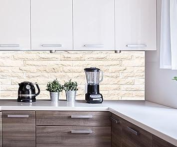 Küchenrückwand Graue Farbe Steinmauer Nischenrückwand ...