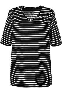 8882cc5e0d0f Ulla Popken Große Größen Damen T-Shirt V-Ausschnitt: Ulla Popken ...
