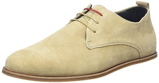 Royal RepubliQ EVO Shoe Suede, Zapatos de Cordones Derby para Hombre, Marfil (Camel 38), 41 EU