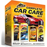 Armor All Car Wash and Cleaner Kit (4 Items) - 2pc Glass Wipes & Protectant with Wax & Wash Concentrate and Tire Shine…