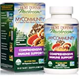 Host Defense, MyCommunity Capsules, Advanced Immune Support, Mushroom Supplement with Lion's Mane, Reishi, Vegan, Organic, 120 Capsules (60 Servings)