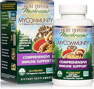 product image for Host Defense, MyCommunity Capsules, Advanced Immune Support, Mushroom Supplement with Lion's Mane, Reishi, Vegan, Organic, 120 Capsules (60 Servings)