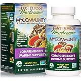 Host Defense, MyCommunity Capsules, Advanced Immune Support, Mushroom Supplement with Lion's Mane, Reishi, Vegan, Organic, 12