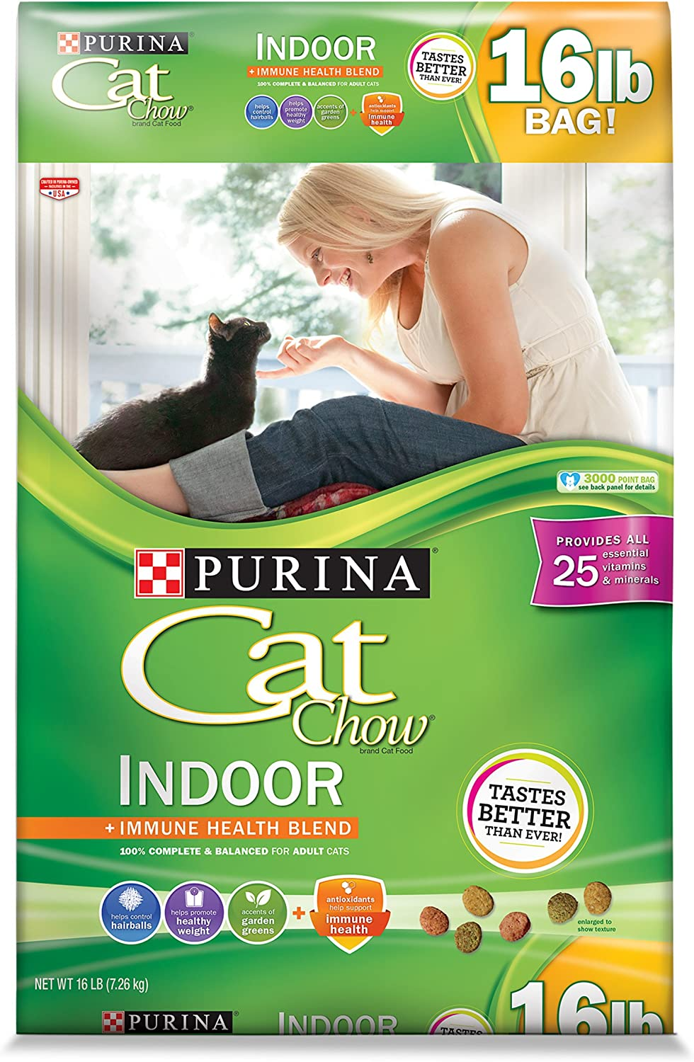 Purina Cat Chow Indoor With Real Chicken Hairball Control, Healthy Weight Adult Dry Cat Food