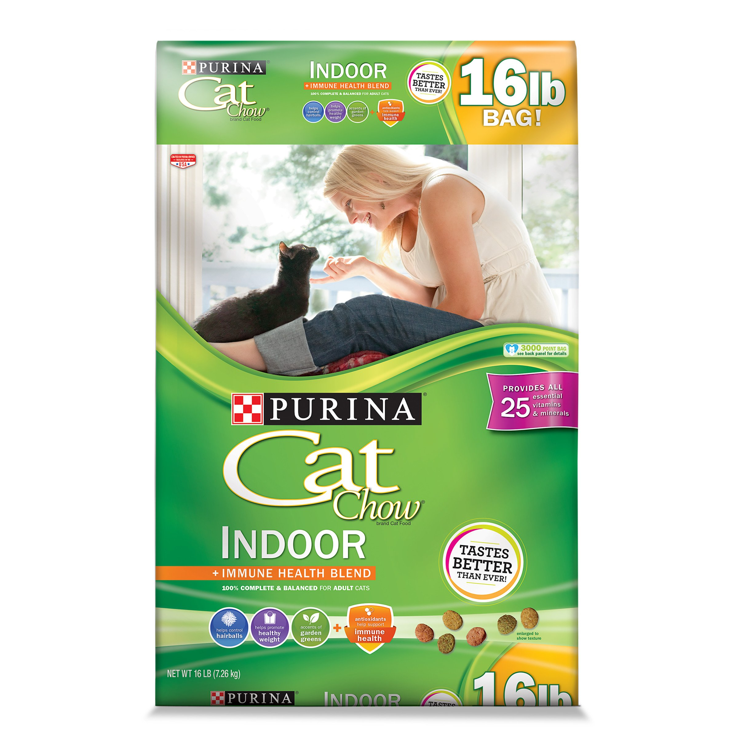 Purina Cat Chow Hairball, Healthy Weight, Indoor Dry Cat Food, Indoor - 16 lb. Bag by Purina Cat Chow