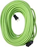 Yard Master 9940010 Outdoor Garden 120-Foot Extension Cord, Heavy Duty, Water Resistant, Super Flexible and Lightweight, Durable 16 Gauge 2 Pronged, Highly Visible, 10 Amps, Lime Green