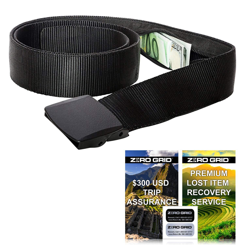 Travel Security Belt - Hidden Money Belt, Anti Theft Travel Belt TSA Approved by Zero Grid
