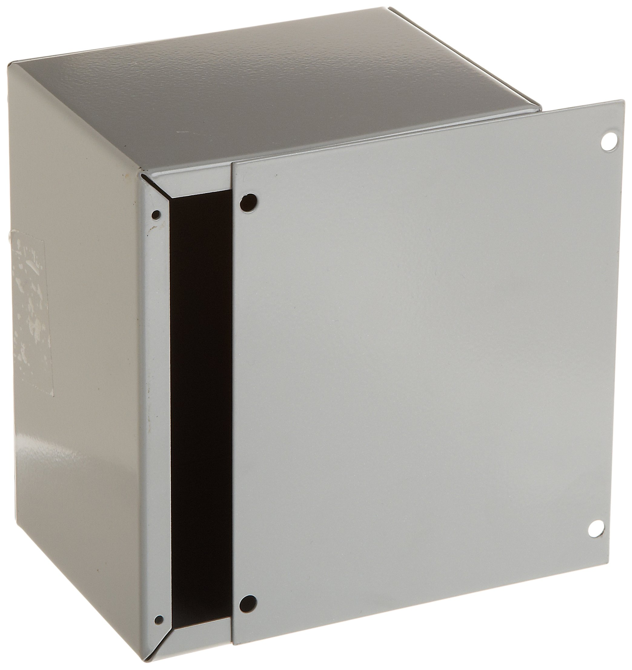 BUD Industries CU-729 20 Gauge Steel Utility Cabinet, 6'' Width x 5'' Height x 4'' Depth, Metallic Gray Finish