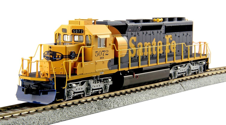 Kato USA Model Train Products HO EMD #5072 SD40-2 Mid Production Santa Fe Train Kato Trains 37-6616