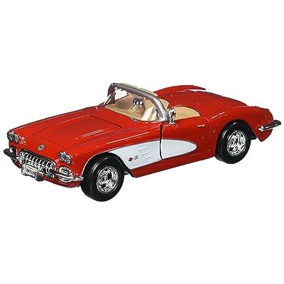 Motor Max 1:24 W/B American Classics 1959 Chevrolet Corvette Convertible Diecast Vehicle: Toys & Games