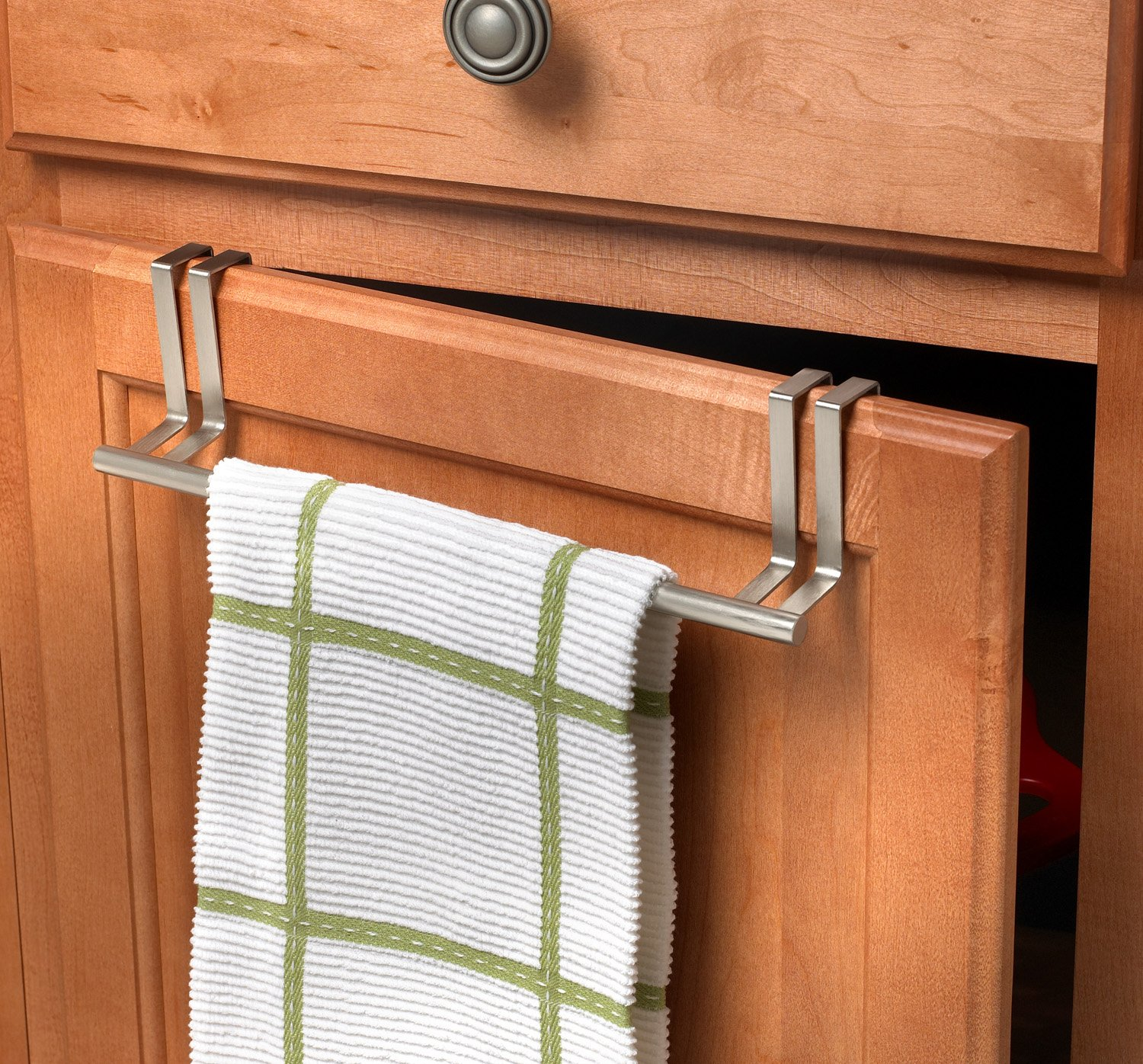 Uncategorized Dish Towel Rack amazon com spectrum diversified over the door towel bar brushed nickel home kitchen