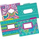 Barker Creek Fashion File Folders - Bohemian, Set of 12 (BC1339)