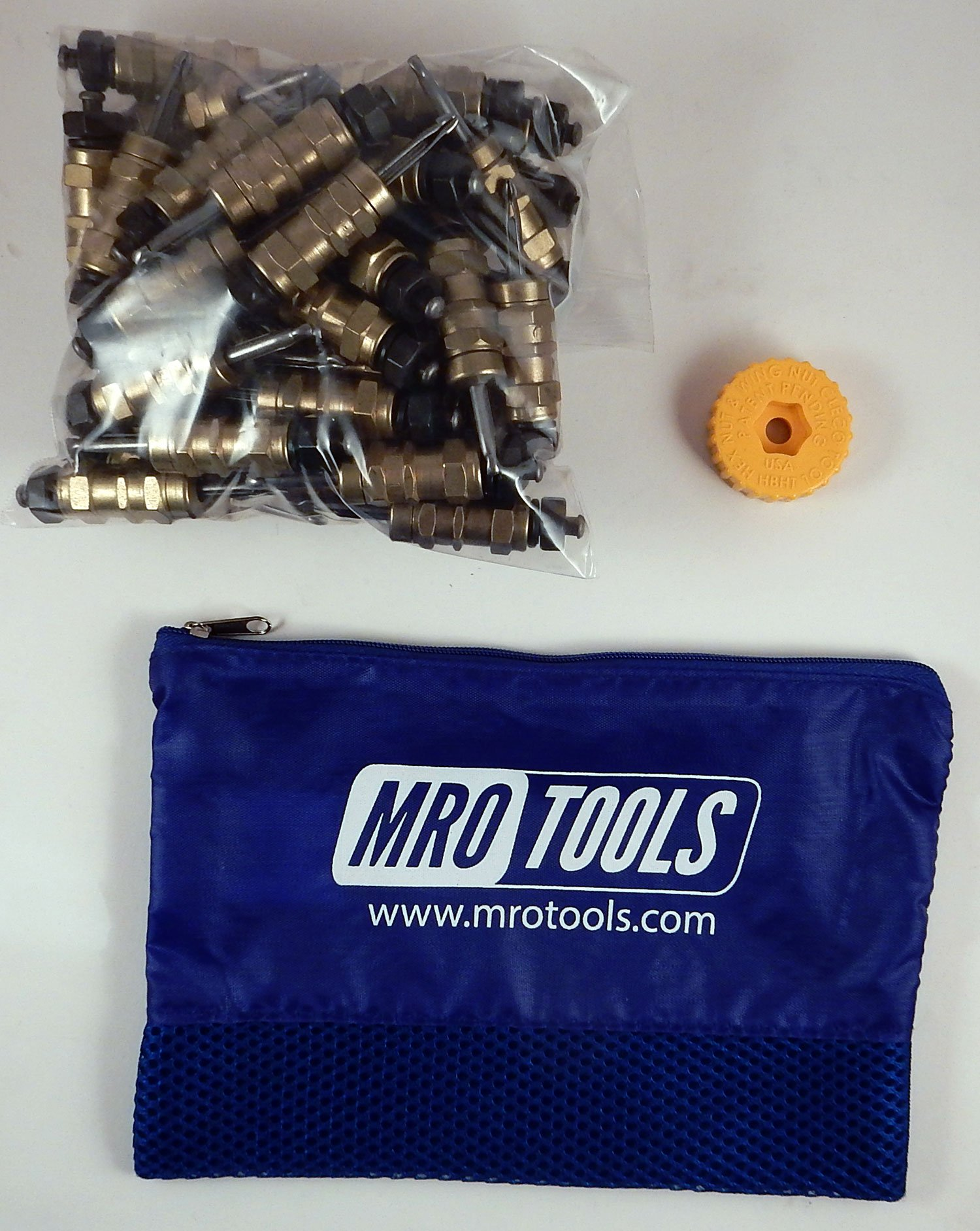 50 3/16 Standard Hex-Nut Cleco Fasteners w/ HBHT Tool & Carry Bag (KHN1S50-3/16)