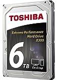 Toshiba X300 6TB Performance Desktop and Gaming Hard Drive 7200 RPM 128MB Cache SATA 6.0Gb/s 3.5 Inch Internal Hard Drive (HDWE160XZSTA)