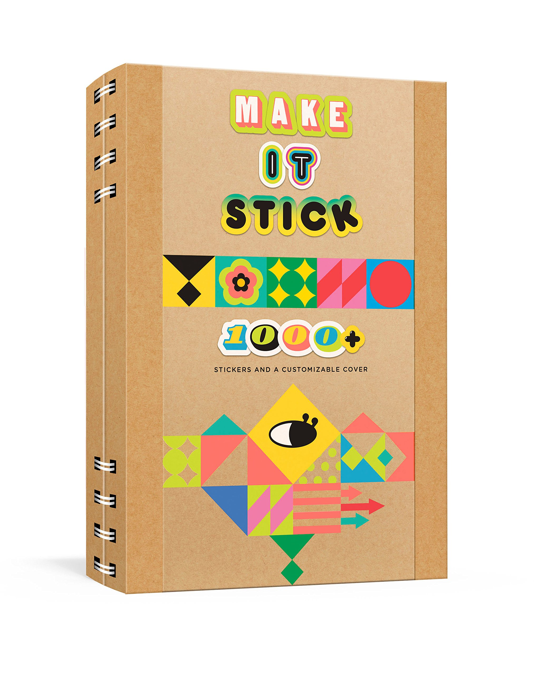 Make it stick notebook 1000 stickers and a customizable cover diary april 24 2018