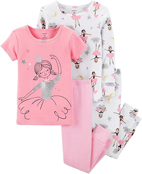 Carter s Little Girls  Toddler Fairytale Dreams 4-Piece Pajamas ... b396d268a