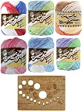 Lily Sugar n' Cream Stripes Variety Assortment Bundle 100% Cotton Medium 4 Worsted with Bamboo Knitting Gauge (Asst 59)