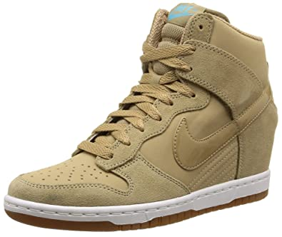 brand new 9c8fe 63de2 NIKE WMNS Dunk Sky Hi Essential 644877-200 Desert Camo Hidden Wedge Women  Shoes (