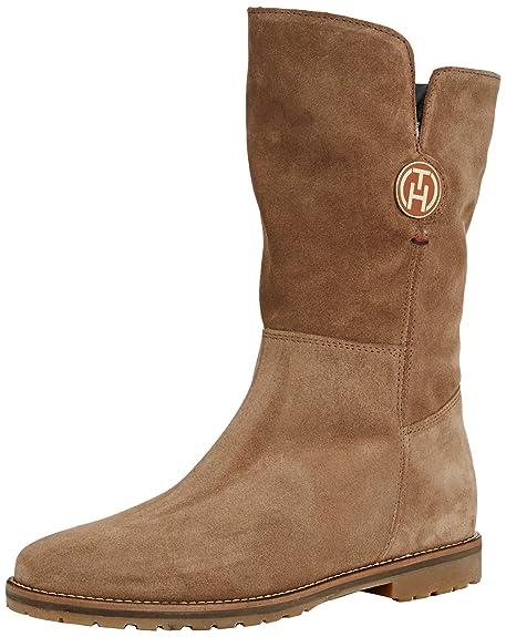 b80ca3c1 Tommy Hilfiger Wendy 4B - Botas de Cuero para Mujer, Color Beige, Talla 42:  Amazon.es: Zapatos y complementos
