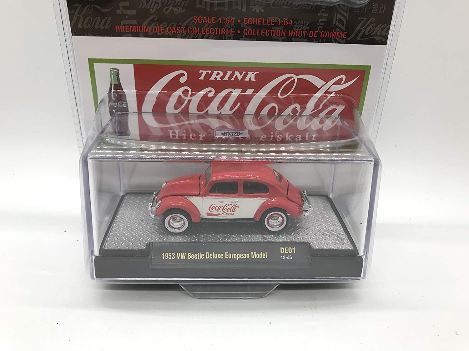 1 of 9600 M2 Machines by M2 Collectible Coca-Cola 1953 VW Beetle Deluxe European Model 1:64 Scale DE01 18-46 Red//White Details Like NO Other