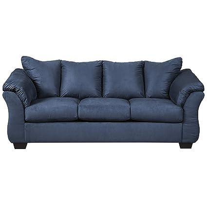 Amazon.com: Flash Furniture Blue Microfiber Sofa,: Kitchen ...