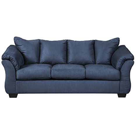 Navy Blue Leather Sectional Couch Microfiber Sofa Home ...
